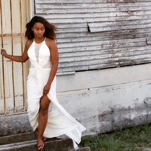 White lace BCBG dress
